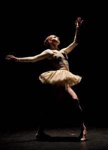 "Boston Ballet's Melissa Hough last summer in ""Brake the Eyes,'' which the company will present at Boston Opera House."