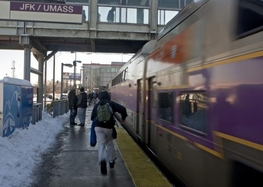 With 27 percent of trains running behind schedule, riders waited in uncertainty on frigid and snowy station platforms.