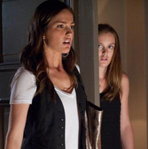 Minka Kelly (left) and Leighton Meester in ''The Roommate.''