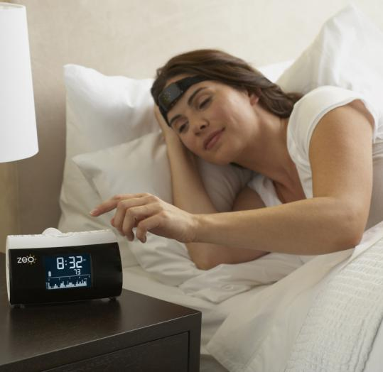 "Zeo, which is based in Newton, sells a $200 ""personal sleep coach'' system that monitors the quality of the user's sleep."