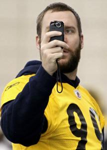 He may have been wearing Brett Keisel's practice jersey, but there was no mistaking Ben Roethlisberger, star of the show.