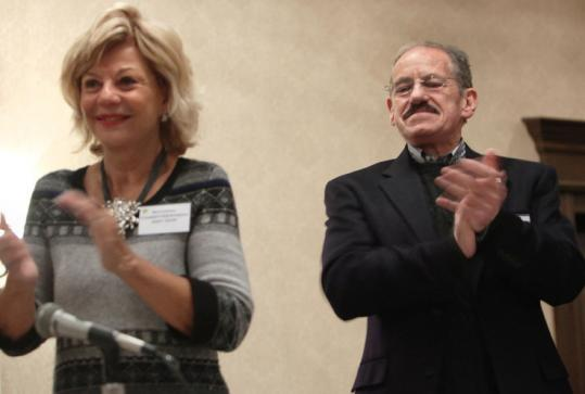Republican leader Ron Kaufman, with Republican National Committeewoman Jody Dow, said 2012 could be a banner year for the state GOP. Kaufman spoke at yesterday's event.