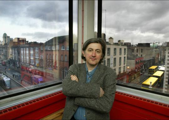 Fiach Mac Conghail, director of Dublin's Abbey Theatre, is looking to Boston for fund-raising and cultural exchanges.