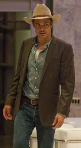 "US marshal Raylan Givens (Timothy Olyphant) must reckon with crime families in backwoods Kentucky in ""Justified.''"