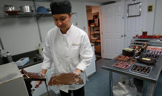 Brigitte Browney of Cocoa Pod Chocolates.