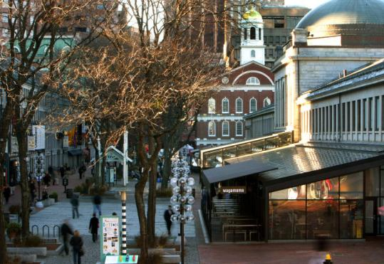 City-owned Faneuil Hall Marketplace is run under lease by General Growth Properties, which recently exited bankruptcy.