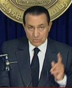 Hosni Mubarak said on TV Thursday that he had devoted his life to his country.
