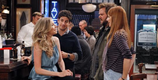 From left: Sarah Chalke, Jason Biggs, Tyler Labine, and Judy Greer play four New Yorkers, two who are falling in love and two who hate each other.