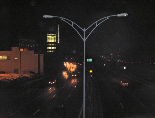 A reader says lights over the Massachusetts Turnpike in Allston near the river have been dark for years.