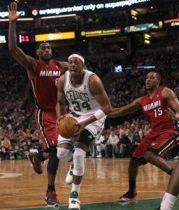 Dealing with hand and foot injuries, Paul Pierce was a nonfactor on offense, missing all 10 field goal attempts.
