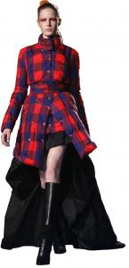 Plaid jacket ensemble by Thakoon.
