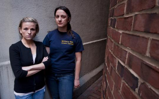 Veterans Kori Cioca, 25, of Wilmington, Ohio (left), and Panayiota Bertzikis, 29, of Somerville, Mass., are among plaintiffs who say officials' response to rape complaints is often inadequate.