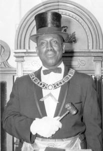 "William ""Bucko'' Bennett dressed in Masonic regalia."