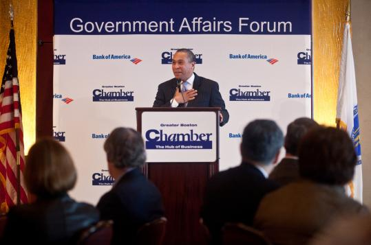 "In proposing his health care overhaul yesterday, Governor Deval Patrick told the Greater Boston Chamber of Commerce that Massachusetts has ""an expensive system that doesn't provide the best care for patients and that has to change.''"