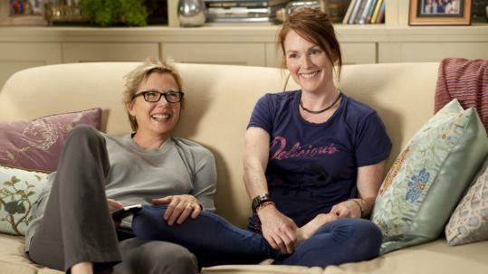 "From left: Annette Bening (nominated) and Julianne Moore (not) in ""The Kids Are All Right.''"