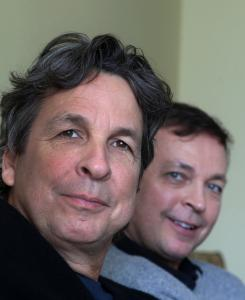 Peter (left) and Bobby Farrelly were in Boston to promote their new movie.