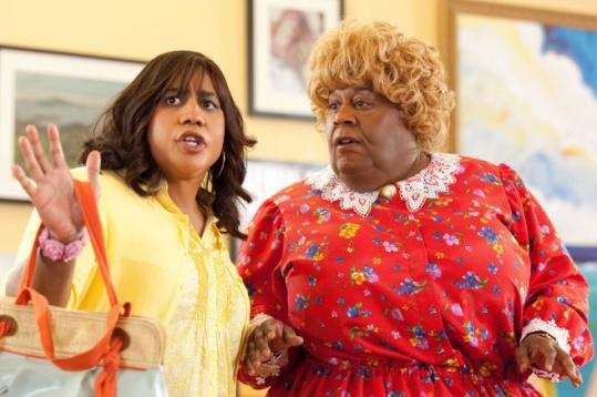 Brandon T. Jackson (left) and Martin Lawrence in &#8220;Big Mommas: Like Father, Like Son.&#8217;&#8217;