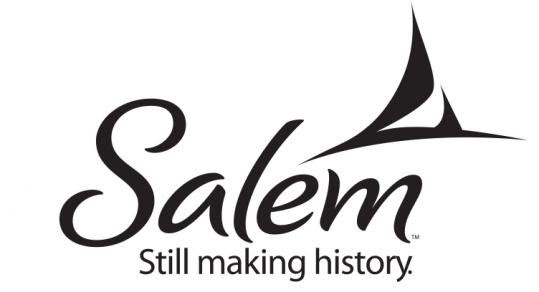 Salem's new logo depicts two images in one: a pointed witch's hat and a sailboat, a symbol of the city's maritime history.