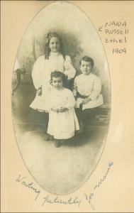 O.S.B. Wall's granddaughter Isabel with siblings Ethel Ada and Roscoe Orin. Isabel was expelled from school for being black.