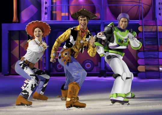 "Jessie, Woody, and Buzz Lightyear in Disney on Ice's ""Toy Story 3.''"