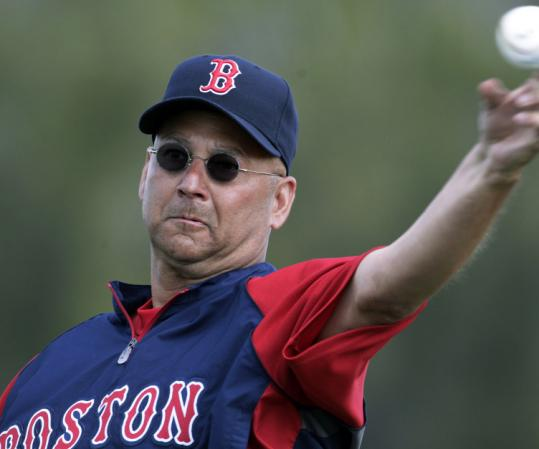 Red Sox manager Terry Francona likely called his own pitches while serving up batting practice yesterday.