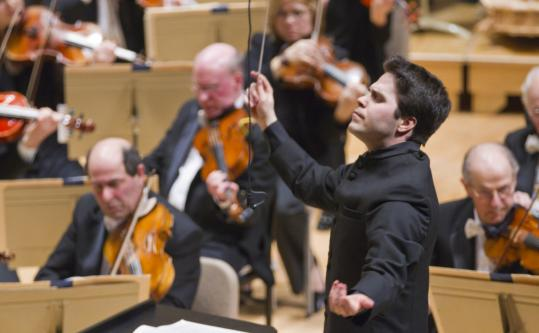 Assistant conductor Sean Newhouse stepped in to conduct the BSO in Mahler's challenging Ninth Symphony.