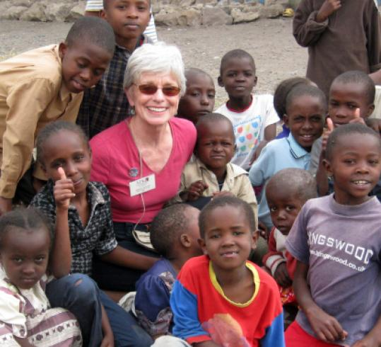 Barbara Richards says she was amazed by the spirit of the people she worked with in Kenya.