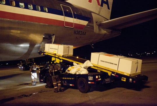 The bodies of Maria Avelina Palaguachi Cela, her toddler son, Brian, and nephew, Luis Gilberto Tenezaca Palaguachi, arrived in Ecuador. Officials there conducted their own autopsies.