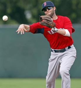 Throughout the Red Sox' full-squad workouts, second baseman Dustin Pedroia hasn't shown any limitations as he returns from a broken foot.