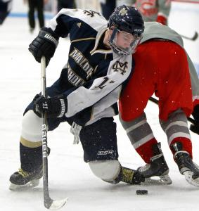 With Ryan Fitzgerald (above), Mike Vecchione, and Brendan Collier, top-seeded Malden Catholic will be hard