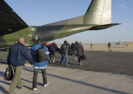 The German government sent two military aircraft to secretly evacuate more than 100 people from Libya on Saturday.