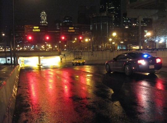 """A reader wrote of his frustration trying to get to South Station while driving through the Thomas P. """"Tip'' O'Neill Jr. Tunnel. Above, a tunnel entrance near the Haymarket T stop."""