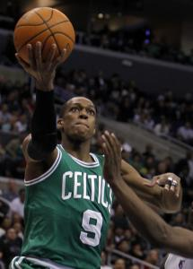 Rajon Rondo pushed on Saturday night while missing his friend, Kendrick Perkins.