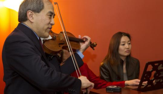 Lynn Chang and Jeannie Suk performing on Sunday.