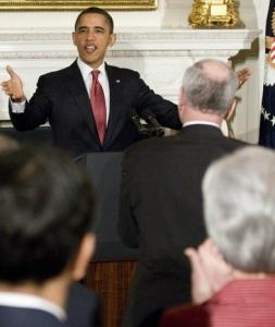 President Obama told governors that the change in the health law would give states flexibility.