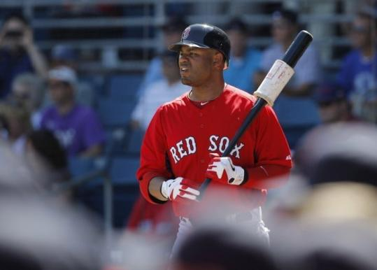 "Carl Crawford batted third in his Red Sox debut. ""That would be fine with me,'' said Crawford, hitless in three at-bats."