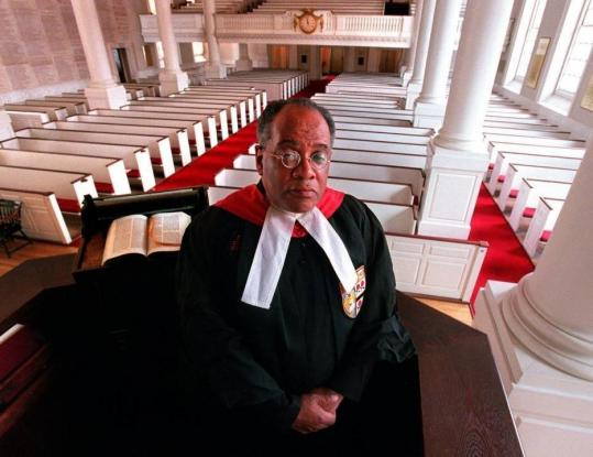 The Rev. Peter J. Gomes, at the pulpit of Memorial Church at Harvard University, won a reputation as the institution's conscience and soul.