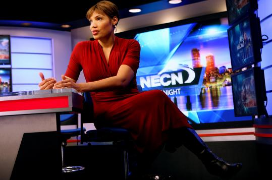 Dorchester native Latoyia Edwards was promoted to the marquee anchor position at NECN in January.
