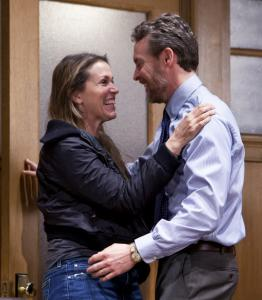 "Frances McDormand and Tate Donovan star as Margie and Mike in ""Good People.''"