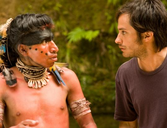 "Juan Carlos Aduviri (left) and Gael García Bernal in ""Even the Rain.''"