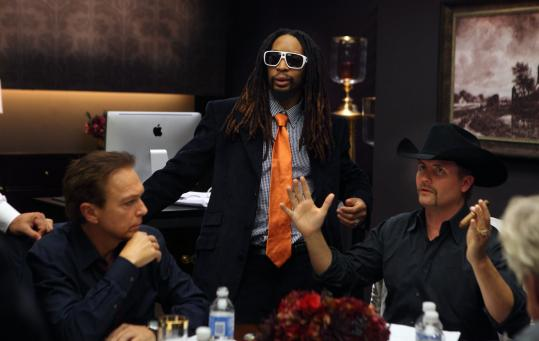 "From left: Onetime teen idol David Cassidy, rapper Lil Jon, and country music singer John Rich are some of the new contestants on ""The Celebrity Apprentice.''"