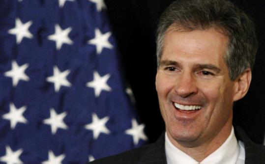 Senator Scott Brown has a voting record similar to those of Olympia J. Snowe and Susan M. Collins, the moderate Republican senators from Maine.