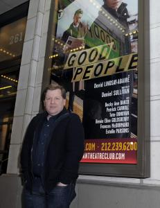 "David Lindsay-Abaire at the Samuel J. Friedman Theatre in New York, where his play ""Good People'' opened last week. He is coming off the success of his Pulitzer-winning ""Rabbit Hole.''"