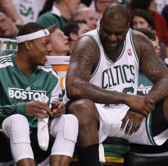 It's been more than a month (Feb. 1) since Shaquille O'Neal joined Paul Pierce on the floor.