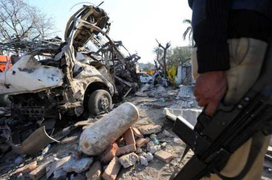The Faisalabad bombing, which targeted Pakistan's main intelligence agency, also devastated a gas station.