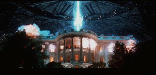 "The White House was one of several iconic sites destroyed by aliens in Roland Emmerich's 1996 film, ""Independence Day.''"