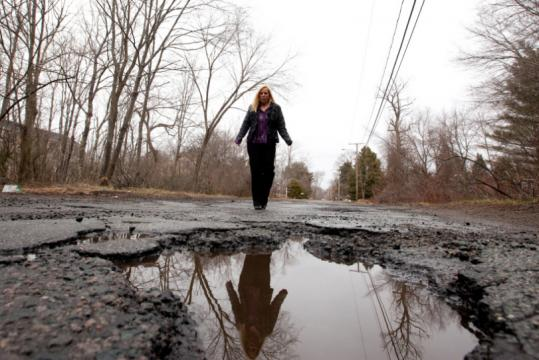 Christine Brennan of East Bridgewater created a page on Facebook devoted to the nasty potholes on Alger Street in Brockton.