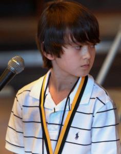 Fourth-grader Zachary Doiron won Boston's citywide spelling bee yesterday.