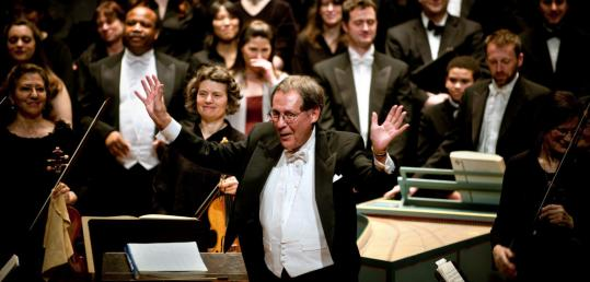 Conductor Donald Teeters leading Boston Cecilia in Handel's 'Jephtha'' on Sunday.