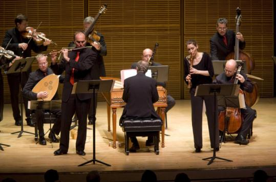 Akademie für Alte Musik Berlin (pictured last week in New York) played at Jordan Hall Saturday.